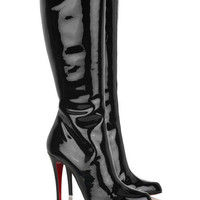 Christian Louboutin Bourge 100 patent boots - &amp;#36;249.00