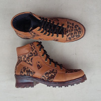brown leopard shoes women with initials handmade Rangkayo Sneakers Preorder ankle boots
