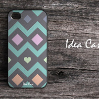 Personalized iPhone 4 iPhone 4s case -Pastel Geometeric iPhone Hard Case