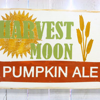Fall Harvest Decor -Pumpkin Ale Typography Wood Sign