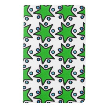 Green Stars Notebook Cover