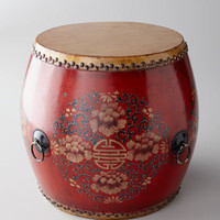 Vintage Drum, Red