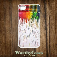 iPhone 4 case, iPhone 4s case, case for iPhone 4 mobile case handmade : Crayons Painting iPhone 4 Case