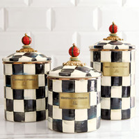Small Courtly Check Canister - MacKenzie-Childs