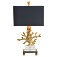 Coral Table Lamp, Gold, Table Lamps