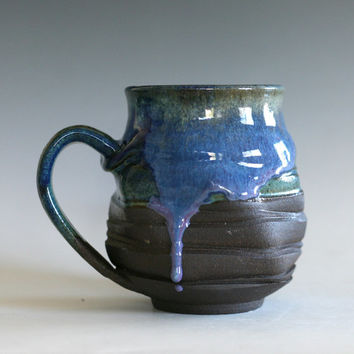 Coffee Mug, 16 oz, handmade ceramic cup, tea cup, coffee cup, handthrown ceramic stoneware pottery mug, unique coffee mug
