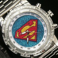 New Superman Silver Premium Fashion Watch 1pcs