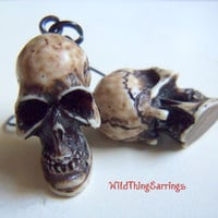 Spooky Skull Dangle Earrings