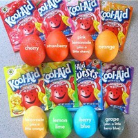 kidlet crafts / dye easter eggs with kool-aid (NEVER buying egg dye again!)
