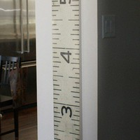 Creativity / Vinyl Black and White Wooden Ruler Growth Chart by KimsSister