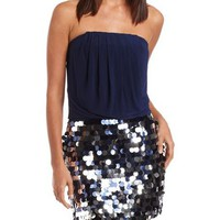 Paillette Skirt 2-Fer Dress: Charlotte Russe
