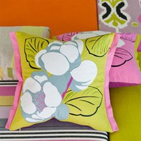 Flamingo Park Lime Pillow 18x18 - Designers Guild | Burke Decor