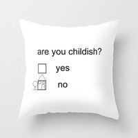 Litmus Throw Pillow by Moop