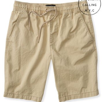Aeropostale  Brooklyn Calling Solid Flat-Front Jogger Shorts
