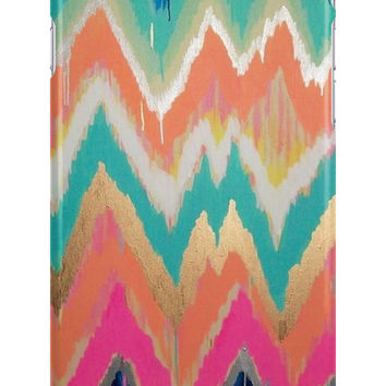 Modern Bright Chevron Zig Zag Stripe Pattern Apple iPhone Cases & Skins
