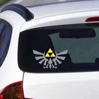Zelda Triforce Crest Vinyl Decal  FREE SHIPPING