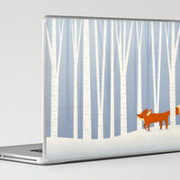 Fox in the Snow Laptop & iPad Skin by Liz Urso | Society6