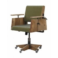 Tree Trunk Deskchair in Green Velours - Office + Storage