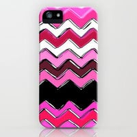 pink chevron iPhone Case by Sharon Turner | Society6