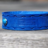 Turquoise Sun Leather Bracelet SALE