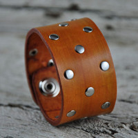 Desert Tan Leather Bracelet
