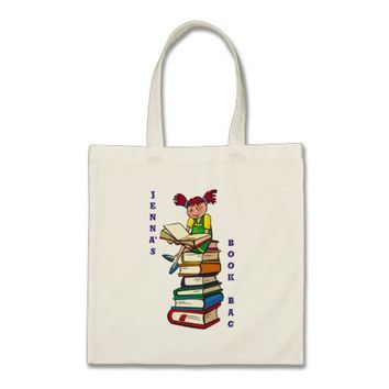 Cute Kid's and Reader's Tote/Book Bag