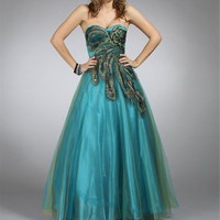 Balbina-Peacock Long Homecoming Dress