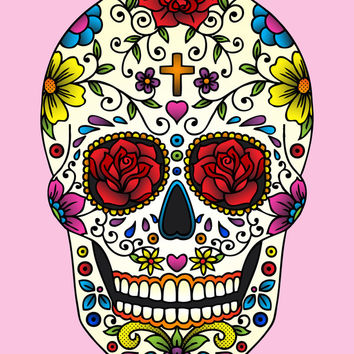 Sugar Skull Art Print by Jade Boylan