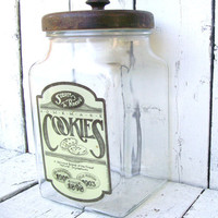 Cookie Jar Large Apothecary Vintage Farmhouse by 3vintagehearts