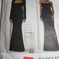 Vogue Pattern Badgley Mischka womans strapless evening gown with bolero size 8 10 12 formal dress 2001