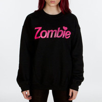 Zombie Crew Neck Sweatshirt [B] | KILL STAR