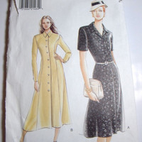 Vogue Pattern Very Easy Very Vogue retro style dress sizes 8 10 12 1940s era dress  uncut 1995