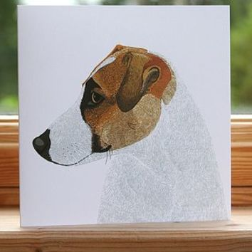 'Jack Russell' Dog Card