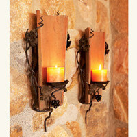 Antique Tuscan Tile Sconces - Vintage Accents - Vintage Home Collection - Home & Garden - NapaStyle