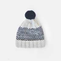 SALE 15% OFF / Ready to Ship / Fair Isle Beanie with Pom Pom, Hand Knit Hat, Womens Winter Hat, Mens Knit Ski Hat, Unisex Bobble Hat