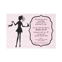 Bachelorette Party Lingerie Shower Invitation from Zazzle.com