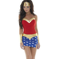 SEXY Wonderwoman Super Hero Women's Halloween Costume S/M