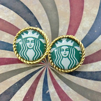 STARBUCKS stud earring