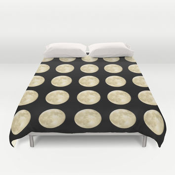 PolkaMoons Duvet Cover by RichCaspian