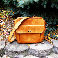 vintage vegan cognac samonsite profile weekender bag. overnight bag.