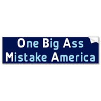 Mistake America Bumper Sticker from Zazzle.com