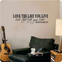 Bob Marley Quote Wall Decal Decor Love Life Words Large Nice Sticker Text $9.99