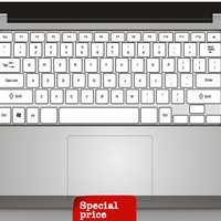 Color whtie pure white Keyboard  Sticker mac decal mac book mac book pro mac book air Ipad