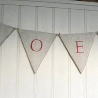 NOEL Christmas burlap banner bunting by samantha2818 on Etsy