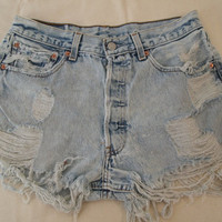 Sale-Vintage Cutoff Denim Shorts High Waisted