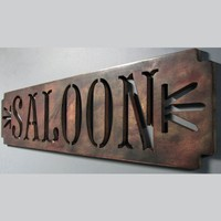 Victorian SALOON handpainted Sign Red Gold by studio724 on Etsy
