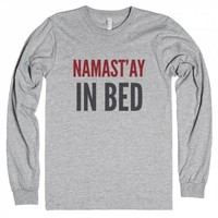 Namast'ay In Bed Long Sleeve T-shirt Ide02101715-T-Shirt