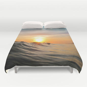 Sunset in Paradise Duvet Cover by Nicklas Gustafsson