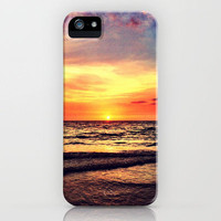 Orange Sunset iPhone Case by Resistance | Society6
