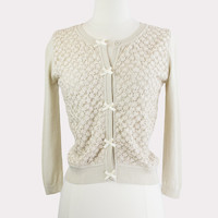 Tea & Biscuits Lace Cardigan in Cream